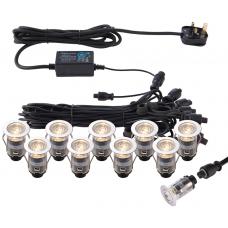 Saxby 73347 Ikon Pro Light Kit 10 x 0.75W 25mm IP67