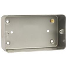 Click CL084 Back Box 2Gang 47mm Metal Clad