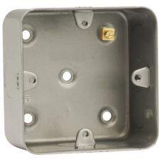 Click CL083 Back Box 1Gang 47mm Metal Clad