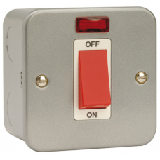 Click CL201 Cooker Switch 1Gang Neon 45A