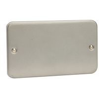 Click CL061 Blanking Plate 2Gang Metal Clad