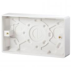 Click CMA082 Surface Pattress 2Gang 25mm White