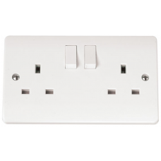 Click CMA036 Double Switched Socket 2Gang 13A