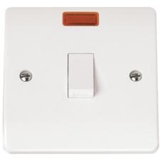 Click CMA623 Double Pole Switch & Neon 20A