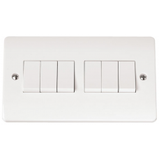 Click CMA105 Plate Switch 6Gang 2Way 10A