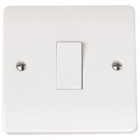 Click CMA025 Plate Switch 1Gang Intermediate 10A