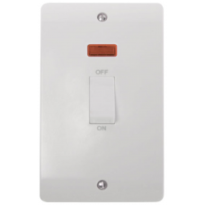 Click CMA503 Switch DP Double Plate + Neon 45A White