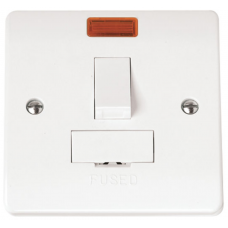 Click CMA652 Switched Connection Unit Spur Neon 13A