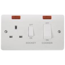 Click CMA505 Cooker Control Unit & Socket + Neon 45A