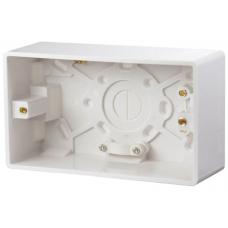 Click CMA086 Surface Pattress 2Gang 47mm White
