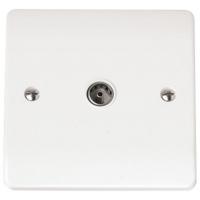 Click CMA065 Single CoAx Socket White