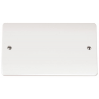 Click CMA061 Blanking Plate 2Gang White