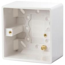 Click CMA085 Surface Pattress 1Gang 47mm White