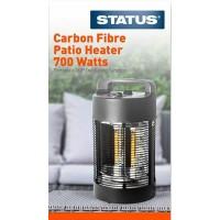700W Electric Carbon Fibre Outdoor Table Top Patio Heater 360º Oscillation