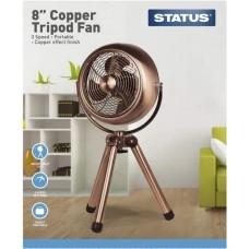 Status S8CTTRIPODFA1PKB Portable Copper Tripod Fan 8in