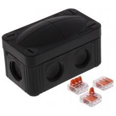 Wiska 10109900 Combi Junction Box 85x49x51mm Black